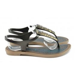 Бразилски дамски сандали между пръстите Grendha 81787 черен