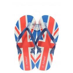 Мъжки гумени чехли между пръстите ДФ Intessillo3 флаг-ВБ