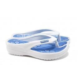Дамски чехли на платформа ГК 1108 бял