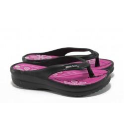 Дамски чехли на платформа ГК 1108 черен