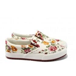 Дамски спортни обувки на цветя Bulldozer 61214 червен