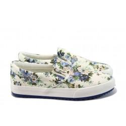 Дамски спортни обувки на цветя Bulldozer 61214 син