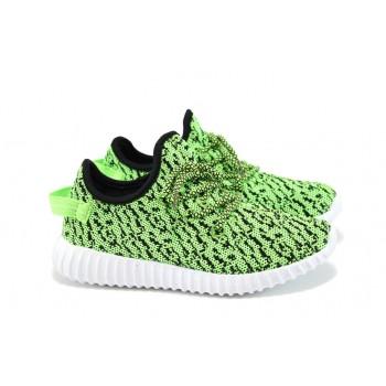 Леки детски маратонки с връзки ГК 30151 зелен