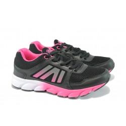 Дамски дишащи маратонки ГК 30113 черен