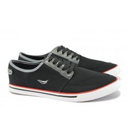 Мъжки спортни обувки ГК 30149-1 черен | Мъжки ежедневни обувки | MES.BG