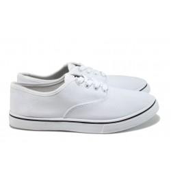 Мъжки спортни обувки /полукецове/ Runners 161-1001 бял