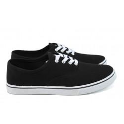 Мъжки спортни обувки /полукецове/ Runners 161-1001 черен