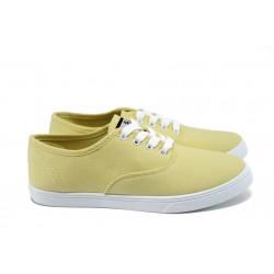 Дамски спортни обувки /полукецове/ Runners 161-4022 жълт