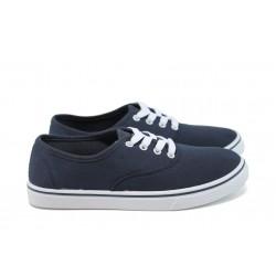 Юношески спортни обувки /полукецове/ Runners 161-1001 син