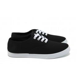 Юношески спортни обувки /полукецове/ Runners 161-4022 черен