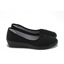 Дамски обувки на платформа Runners 161-4069 черен