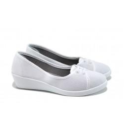 Дамски обувки на платформа РС 161-4069 бял
