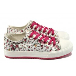 Дамски спортни обувки на цветя Bulldozer 61248 циклама