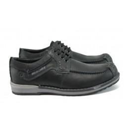 Анатомични български обувки от естествена кожа МЙ 83239 черен