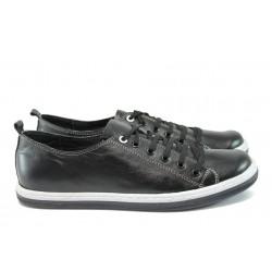 Анатомични мъжки спортни обувки от естествена кожа КН 134 черен