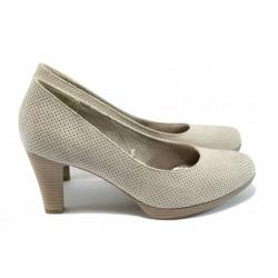 Дамски обувки на висок ток Marco Tozzi 2-22445-26 бежов