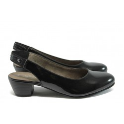 Дамски лачени обувки Jana 8-29561-26 черен
