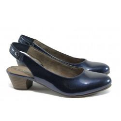 Дамски лачени обувки Jana 8-29561-26 т.син