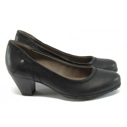 Дамски класически обувки на среден ток Jana 8-22460-26 черен