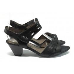Дамски сандали на среден ток за Н крак Jana 8-28361-26 черен