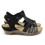 Анатомични дамски сандали Marco Tozzi 2-28901-26 черен