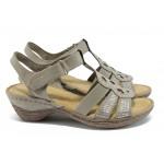 Анатомични дамски сандали Marco Tozzi 2-28901-26 бежов