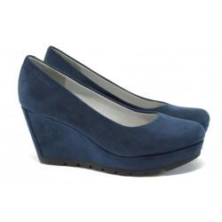 """Дамски обувки на платформа с """"мемори"""" пяна S.Oliver 5-22428-26 т.син"""