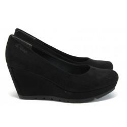"""Дамски обувки на платформа с """"мемори"""" пяна S.Oliver 5-22428-26 черен"""