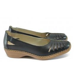 Дамски ортопедични обувки от естествена кожа Remonte D1634-01 черен
