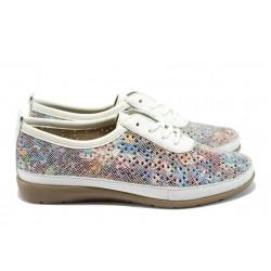Ортопедични дамски спортни обувки Remonte D1904-90 бял-цветен