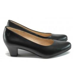 Дамски обувки на среден ток Caprice 9-22306-26 черен ANTISHOKK