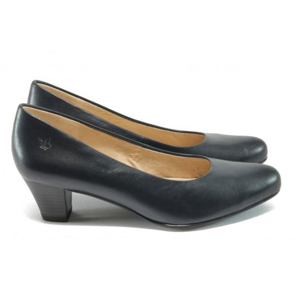 Дамски обувки на среден ток Caprice 9-22306-26 син ANTISHOKK
