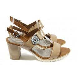 Немски дамски сандали на ток Marco Tozzi 2-28704-26 бежов