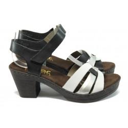 Немски дамски сандали Rieker 66763-80 бял