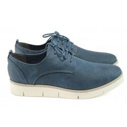 Равни дамски обувки Marco Tozzi 2-23709-26 син
