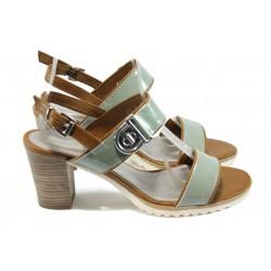 Немски дамски сандали на ток Marco Tozzi 2-28704-26 зелен