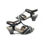 Немски дамски сандали на среден ток Jana 8-28360-26 черен