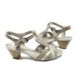 Немски дамски сандали на среден ток Jana 8-28360-26 бежов