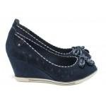Дамски обувки на платформа Marco Tozzi 2-29305-26 син