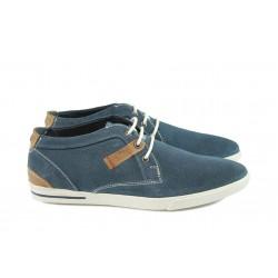 Мъжки обувки от естествен набук S.Oliver 5-15107-26 син
