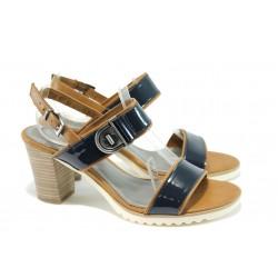 Немски дамски сандали на ток Marco Tozzi 2-28704-26 син