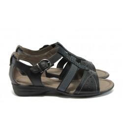 Равни дамски сандали Jana 8-28164-26 черен