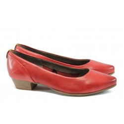 Дамски обувки от естествена кожа Jana 8-22200-26 червен