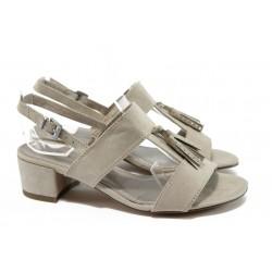 Дамски сандали на среден ток Marco Tozzi 2-28207-36 бежов