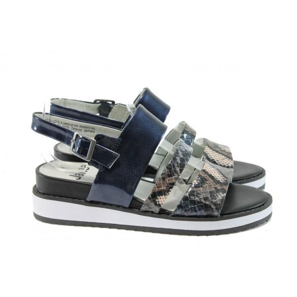 Дамски сандали на платформа Jana 8-28602-26 син