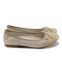 Равни дамски обувки Jana 8-22109-26 бежов