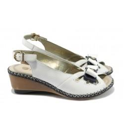 Дамски сандали на платформа Remonte D6157-80 бял
