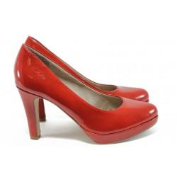 """Елегантни дамски обувки с """"мемори"""" пяна s.Oliver 5-22400-26 червен"""