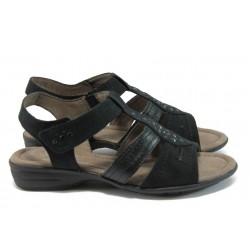 Равни дамски сандали Jana 8-28163-26 черен