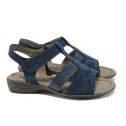 Равни дамски сандали Jana 8-28163-26 т.син